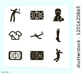 simple set of 9 icons related... | Shutterstock .eps vector #1201620865