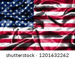 united states flag waving in... | Shutterstock . vector #1201632262