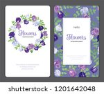 butterfly pea flowers and leaf... | Shutterstock .eps vector #1201642048