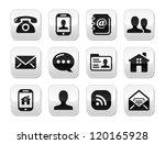 contact black buttons set  ... | Shutterstock .eps vector #120165928