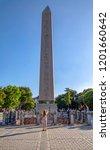 obelisk of theodosius or... | Shutterstock . vector #1201660642