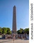 obelisk of theodosius or... | Shutterstock . vector #1201660645