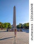 obelisk of theodosius or... | Shutterstock . vector #1201660648