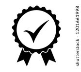 black icon approved or... | Shutterstock .eps vector #1201661998