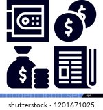 set of 4 business filled icons...   Shutterstock . vector #1201671025