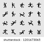 silhouette icons set for soccer ... | Shutterstock .eps vector #1201673065