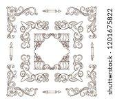 set of square frames  corners ...   Shutterstock .eps vector #1201675822