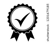 black icon approved or... | Shutterstock .eps vector #1201679185