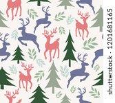 vector reindeers and christmas... | Shutterstock .eps vector #1201681165