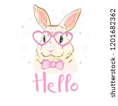 cute bunny  vector  illustration | Shutterstock .eps vector #1201682362