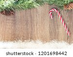 christmas background with copy... | Shutterstock . vector #1201698442