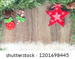 christmas background with copy... | Shutterstock . vector #1201698445