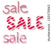 set of words sale. vector... | Shutterstock .eps vector #120170062