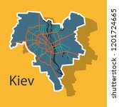 map of the districts of kiev ... | Shutterstock .eps vector #1201724665