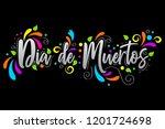 dia de muertos. day of the dead ... | Shutterstock .eps vector #1201724698