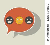 sticker emoticon set icons ... | Shutterstock .eps vector #1201724812