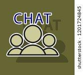 sticker mobile phone chat... | Shutterstock .eps vector #1201724845