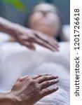 professional reiki healer doing ... | Shutterstock . vector #1201726618