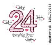 twenty four number. slogan... | Shutterstock . vector #1201730368