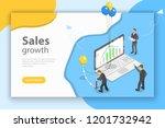 isometric flat concept of... | Shutterstock . vector #1201732942