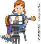 illustration of a kid girl... | Shutterstock .eps vector #1201738762