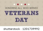 veterans day greeting card in... | Shutterstock .eps vector #1201739992