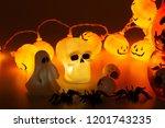 beautiful halloween decoration... | Shutterstock . vector #1201743235