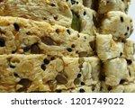healthy delicious sliced multi... | Shutterstock . vector #1201749022