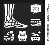 set of 6 people filled icons... | Shutterstock .eps vector #1201749622