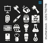 set of 16 tool filled icons...   Shutterstock .eps vector #1201750798