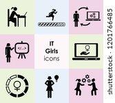 vector illustration of icons... | Shutterstock .eps vector #1201766485