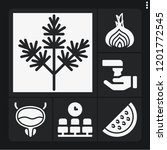 set of 6 health filled icons... | Shutterstock .eps vector #1201772545
