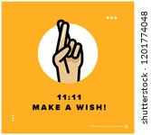 11 11 make a wish vector quote... | Shutterstock .eps vector #1201774048