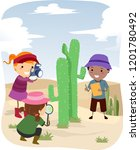 illustration of stickman kids... | Shutterstock .eps vector #1201780492