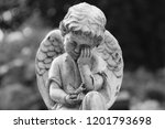 weeping angel sculpture with... | Shutterstock . vector #1201793698