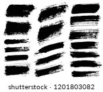 brush strokes. vector... | Shutterstock .eps vector #1201803082