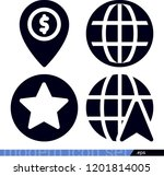 set of 4 signs filled icons... | Shutterstock .eps vector #1201814005