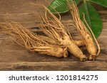 close up of ginseng roots on a... | Shutterstock . vector #1201814275