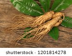 close up of ginseng roots on a... | Shutterstock . vector #1201814278