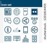 contains such icons as grid ... | Shutterstock .eps vector #1201814455