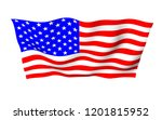 waving flag of the united... | Shutterstock . vector #1201815952