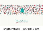 merry christmas and happy new... | Shutterstock . vector #1201817125