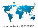 special blue vector map icon... | Shutterstock .eps vector #120182956