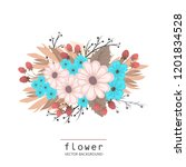 floral composition with... | Shutterstock .eps vector #1201834528