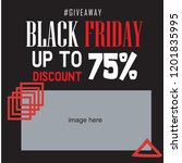 vector square black friday web... | Shutterstock .eps vector #1201835995
