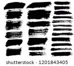 brush strokes. vector... | Shutterstock .eps vector #1201843405