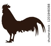 silhouette male rooster with...   Shutterstock .eps vector #1201848388