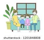 illustration of a family... | Shutterstock .eps vector #1201848808