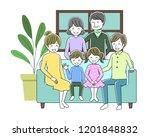 illustration of a family... | Shutterstock .eps vector #1201848832