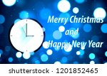 blue shiny card with clock.... | Shutterstock .eps vector #1201852465